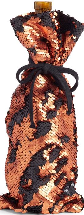 Levtex Reverse Sequin Wine Bag