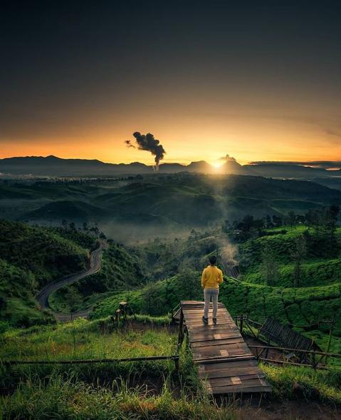 Surga Alam Sunrise Point Cukul Pangalengan Bandung