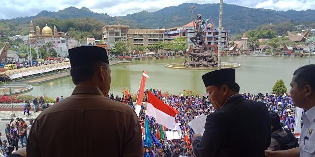 Didemo Mahasiswa, DPRD dan Pemda Tana Toraja Setuju Tolak UU KPK dan RUU KUHP