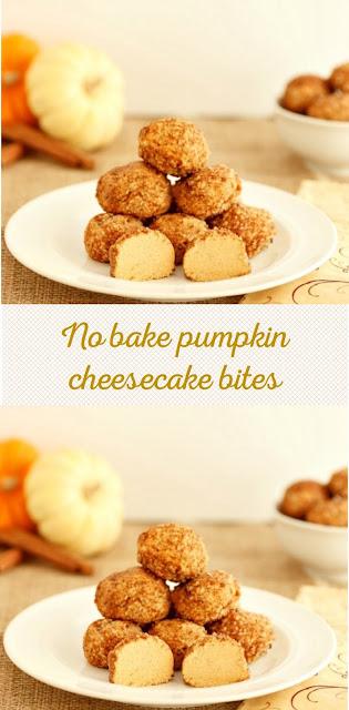 NO BAKE PUMPKIN CHEESECAKE BITES