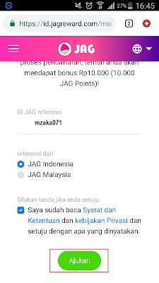 Aplikasi JAG Android
