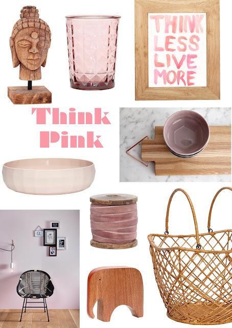 rosa en los interiores