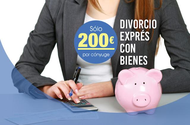 Divorcio exprés con bienes desde 200€