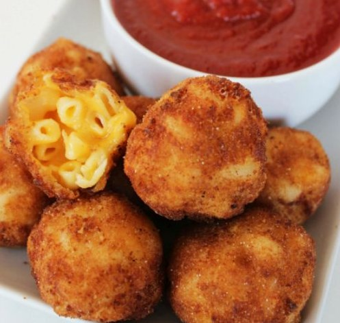 FRIED MACARONI AND CHEESE BITES RECIPE #dinner #partyappetizer