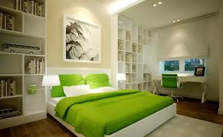 dormitorio verde crena