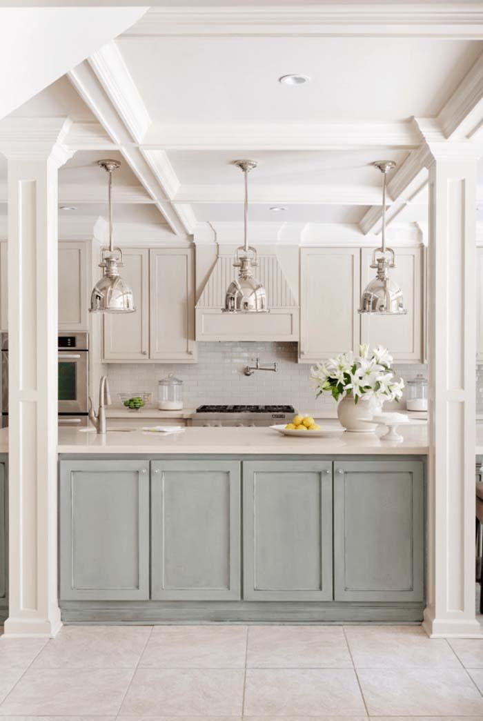 nötr renkler mutfak dolabı