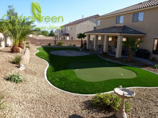 النجيلة الصناعية افكار لتزيين حديقة المنزل باستخدام النجيلة الصناعية كريستل