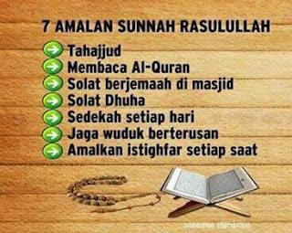 7 amalan rasulullah yang harus dijaga