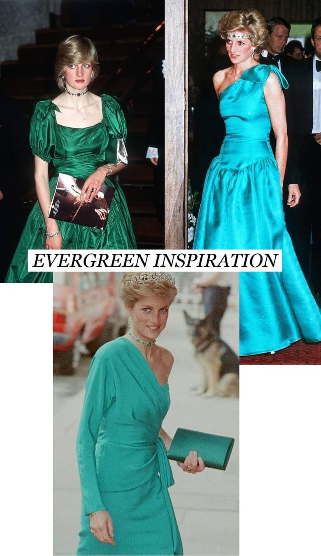 Princess Diana in green dress
