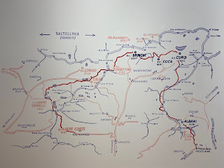 Second half of the Sentiero delle Orobie, map - Tito Terzi Exhibit