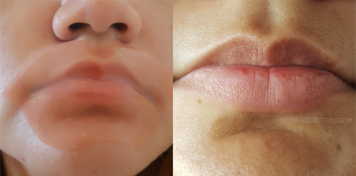 pure smile choosy lip mask peach