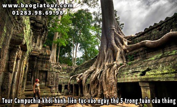 Tour Campuchia khởi hành liên tục vào ngày thứ 5 trong tuần của tháng 2
