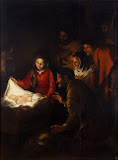 Adoration of the Shepherds by Bartolome Esteban Murillo - Christianity Paintings from Hermitage Museum
