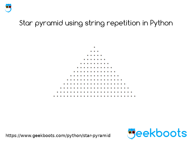 https://www.geekboots.com/python/star-pyramid