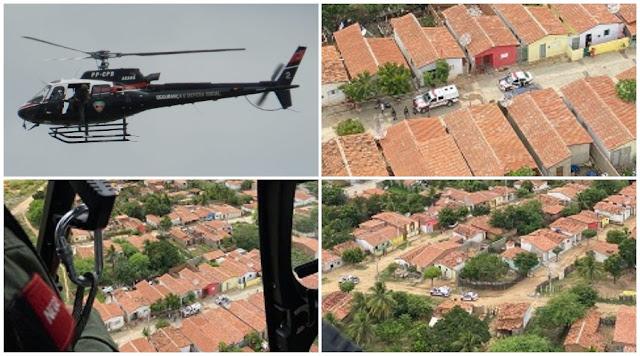 """Polícia realiza """"operação Junina"""" em Patos com apoio aéreo do helicóptero Acauã"""