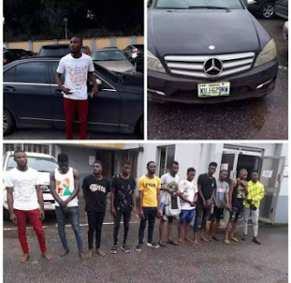 EFCC arrest 11 suspected internet fraudsters