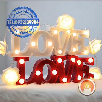 Đèn led 3D love