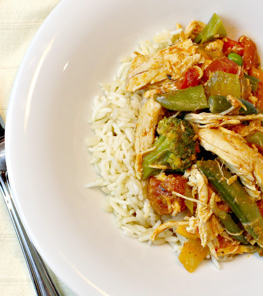 Slow Cooker Coconut Curry Chicken and Veggies