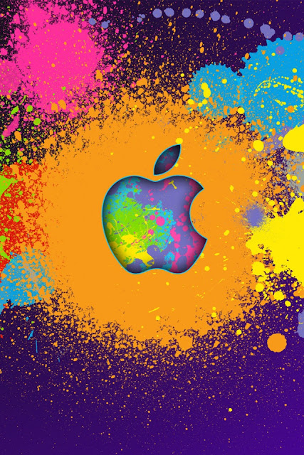 Apple Splatters iPhone Wallpaper By TipTechNews.com