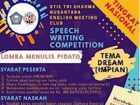 Lomba Menulis Pidato Nasional 2020 di STIE Tri Dharma Nusantara