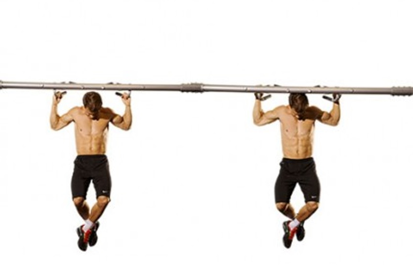 Behind neck pull-up
