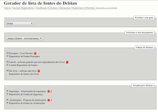 Repositório do Debian