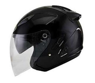 Harga Helm KYT Plain Black