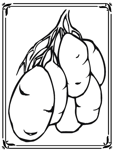free coloring pages of potatoes