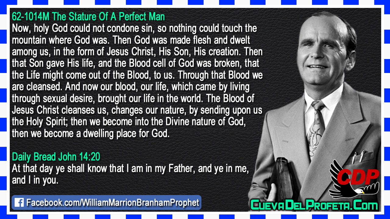The Blood cell of God was broken - William Marrion Branham - William Marrion Branham