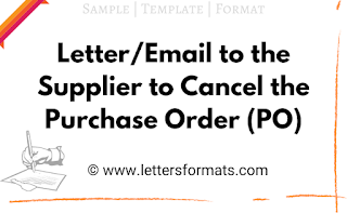 letter format for cancellation of purchase order