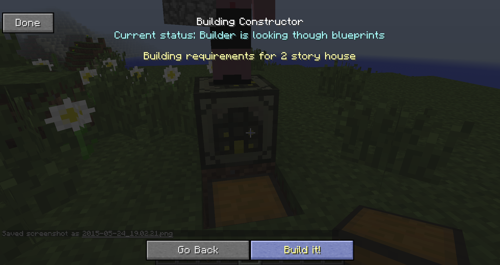 have to build a house in minecraft