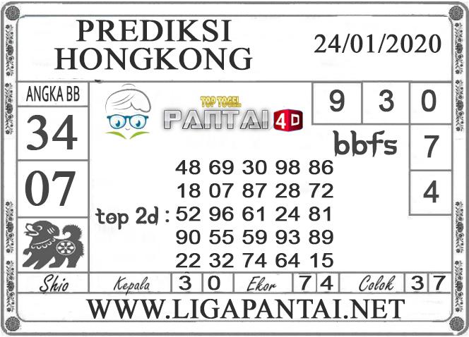 PREDIKSI TOGEL HONGKONG PANTAI4D 24 JANUARI 2020