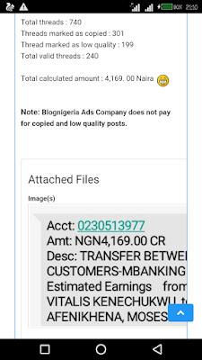 blognigeria payment prrof