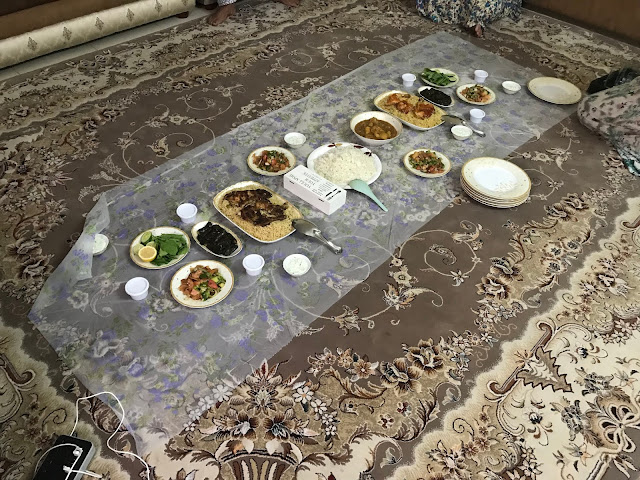 Family dinner in an Emirati home
