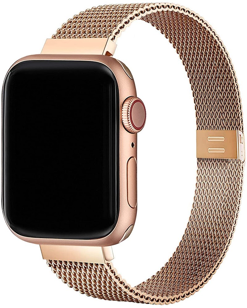 50% off  Slim Watch Band Compatible with Apple Watch Band 38mm 40mm 42mm 44mm for Women Girls, Stainless Steel Mesh Strap Replacement for Watch SE iwatch Series 6/5/4/3/2/1