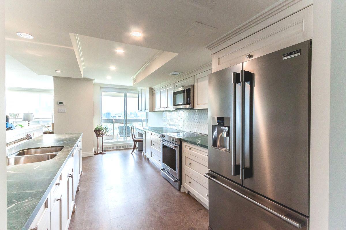 green marble kitchen toronto downtown