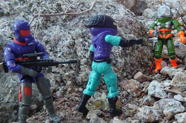 1994 Star Brigade Cobra Commander, Viper, Funskool General Hawk, 2001