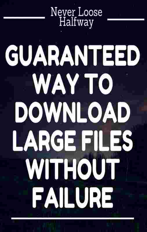 Do your download fail in between, due to network error or any unkown error?  By using this trick, you will never fail the downloading of large file due to network error, power down or server hosting the file do not have resume support.