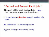 Gerunds VS Present Participle