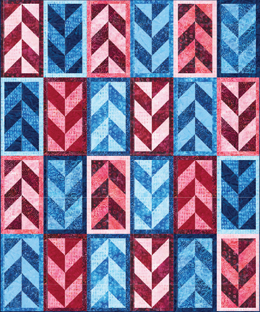 Opposition Quilt designed by Elise Lea of Robert Kaufman Fabrics, featuring Good Vibes