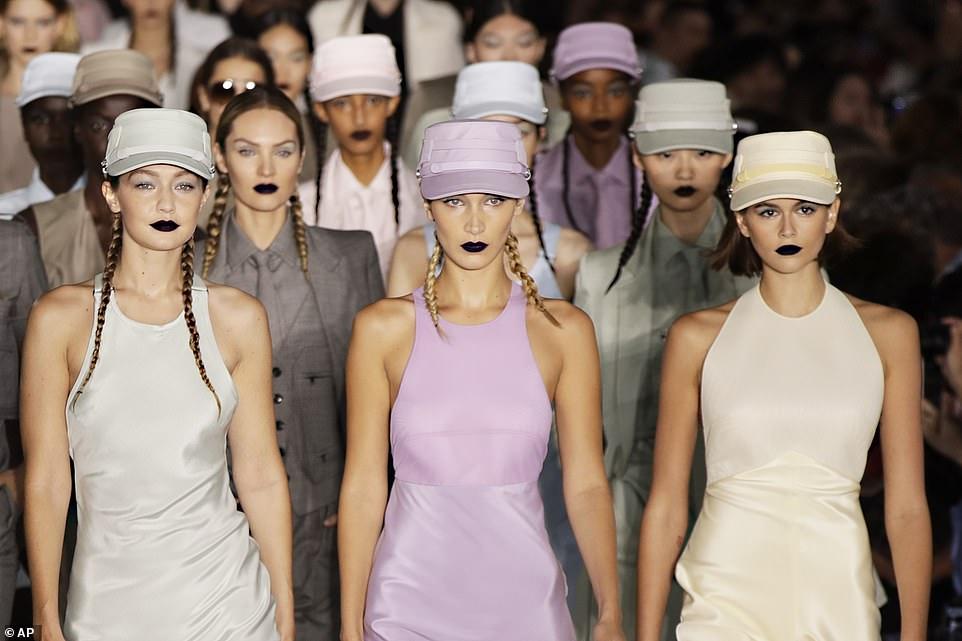 Top models wear black lipstick on the Max Mara Milan Fashion Week Runway