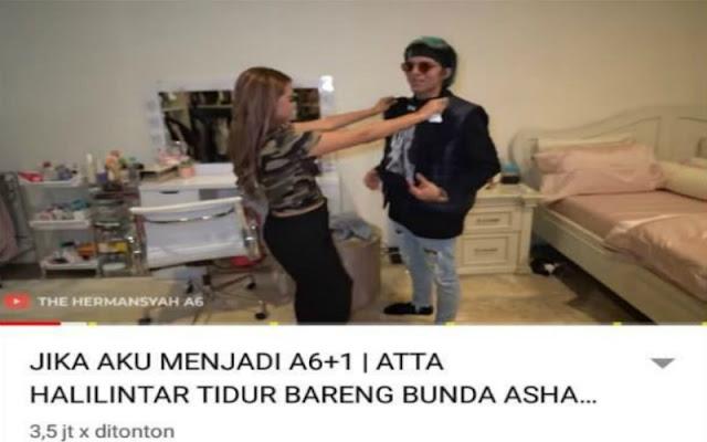 Konten Video Atta Pun Sering Membahas Kedekatannya dengan Keluarga Aurel