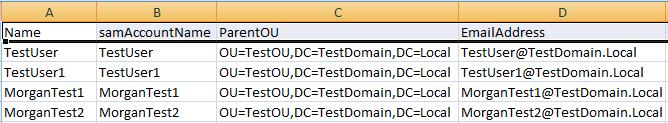 Create Bulk AD Users from CSV Powershell Script