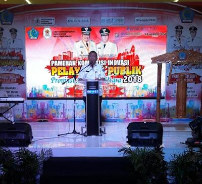 Sekprov Buka Secara Resmi Pameran Kompetisi Inovasi Pelayanan Publik Sulut