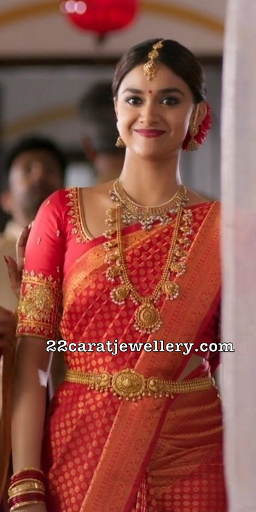 Keerthi Suresh in Antique Bridal Jewelry
