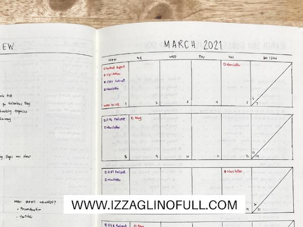 March 2021 Bullet Journal Set Up