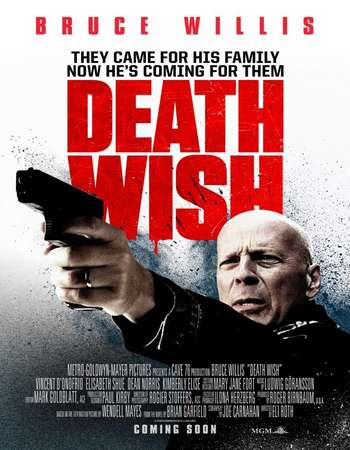 Poster Of Free Download Death Wish 2018 300MB Full Movie Hindi Dubbed 720P Bluray HD HEVC Small Size Pc Movie Only At worldfree4u.com