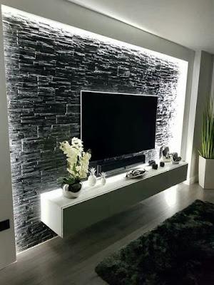 decorating above flat screen tv
