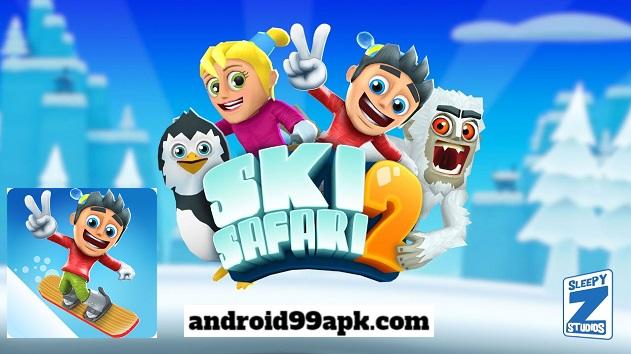 لعبة Ski Safari 2 v1.6.1.4 مهكرة كاملة للاندرويد