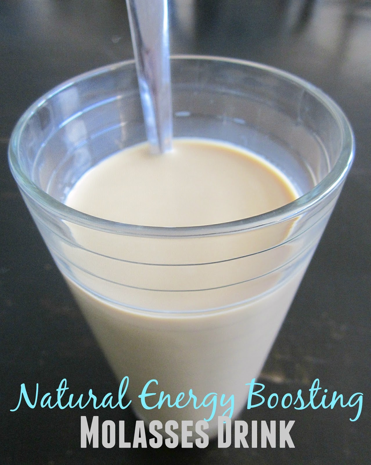 natural energy boosting molasses drink